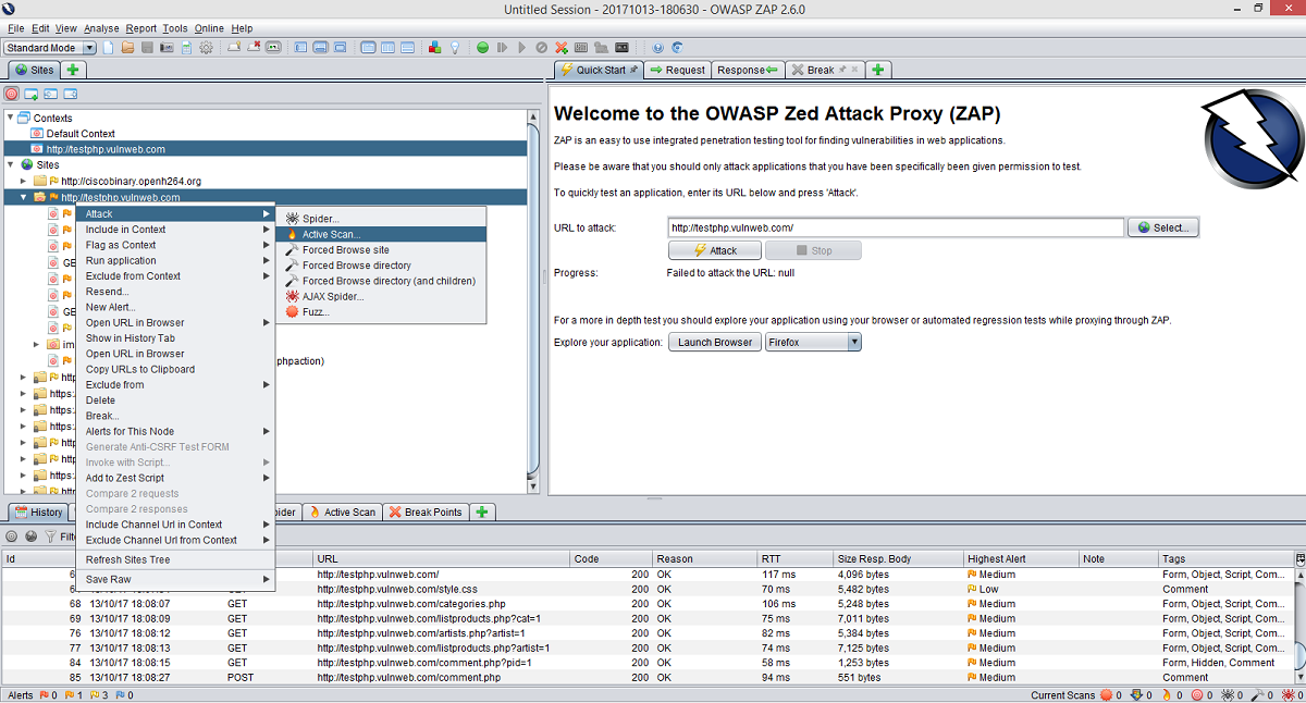 OWASP ZAP: a powerful tool to discover Websites vulnerabilities
