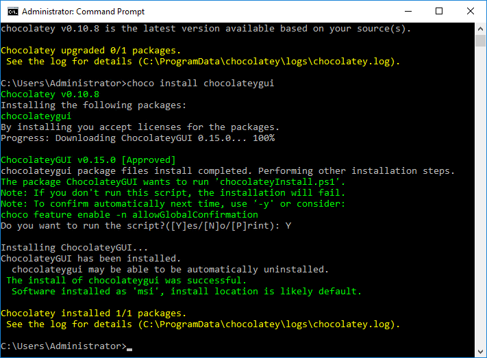 Chocolatey, a package manager for Windows