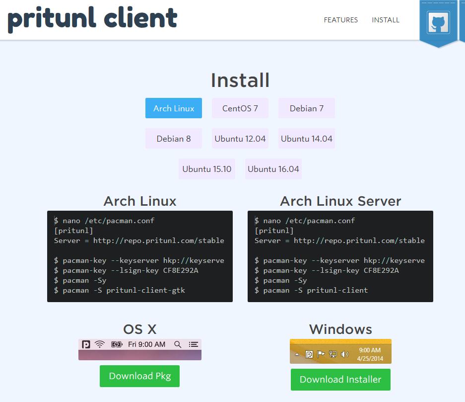 Pritunl: an enterprise and on-premises SDN based on OpenVPN